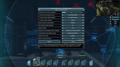 Customization menu page 2 - Island difficulty