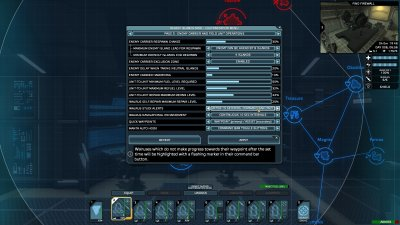 Customization menu page 5 - Enemy carrier and field unit operations