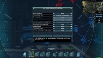 Customization menu page 6 - Mantas, drones and alternative radar