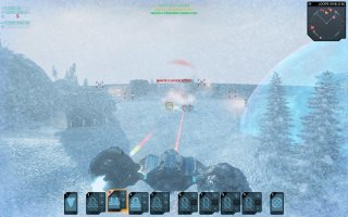 Sample warfare on upgraded enemy island.